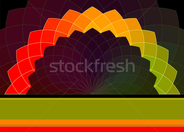 Abstract Vector Background. Vibrant Colors Wheel Banner Stock photo © ESSL