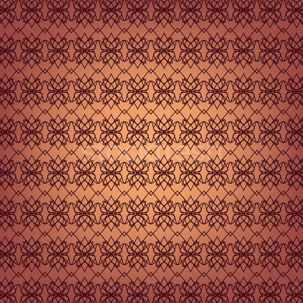 Seamless ornamental wallpaper pattern, vector illustration  Stock photo © ESSL