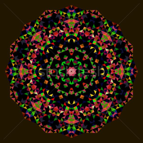 Digitale mozaiek cirkel creatieve kleurrijk stijl Stockfoto © ESSL