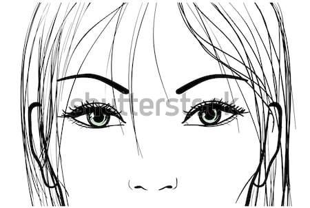 beautiful girl eyes and light long hair Stock photo © ESSL