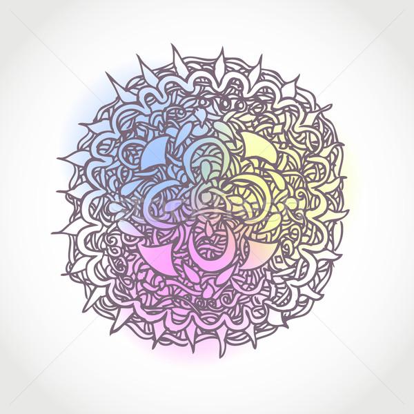 Decorativo vetor círculo forma projeto Foto stock © ESSL