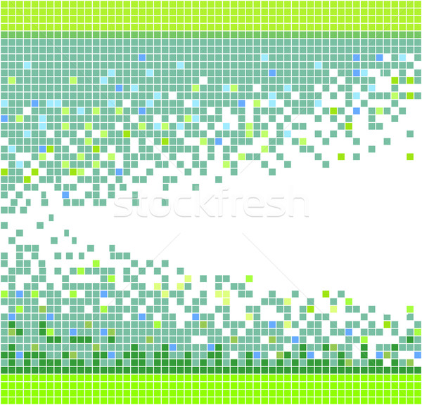 Stock photo: vector abstract mosaic background