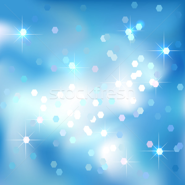 Blue sky abstrato nuvens estrelas ano novo Foto stock © ESSL