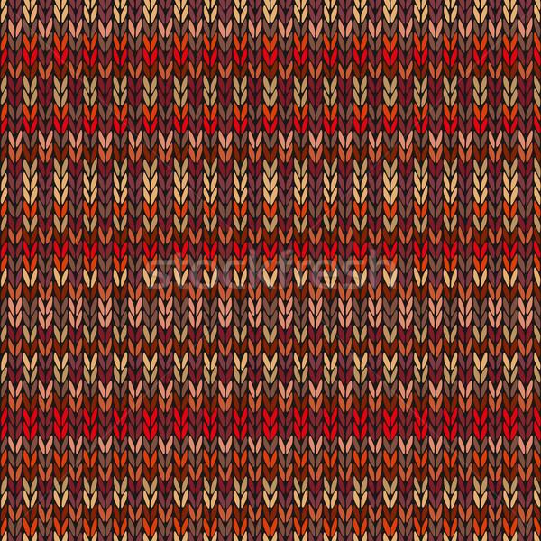 бесшовный этнических геометрический трикотажный шаблон стиль Сток-фото © ESSL