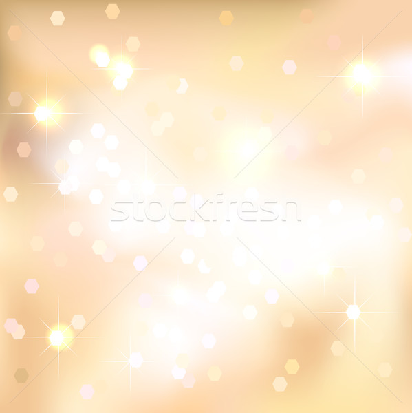 Gold abstract background with light spots and stars. Magical New Year, Christmas event style backgro Stock photo © ESSL