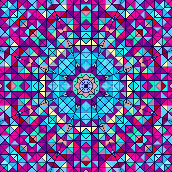 Stockfoto: Abstract · kleurrijk · digitale · decoratief · bloem · meetkundig