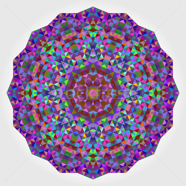 Abstract Digital Multicolor Geometrical Flower Stock photo © ESSL