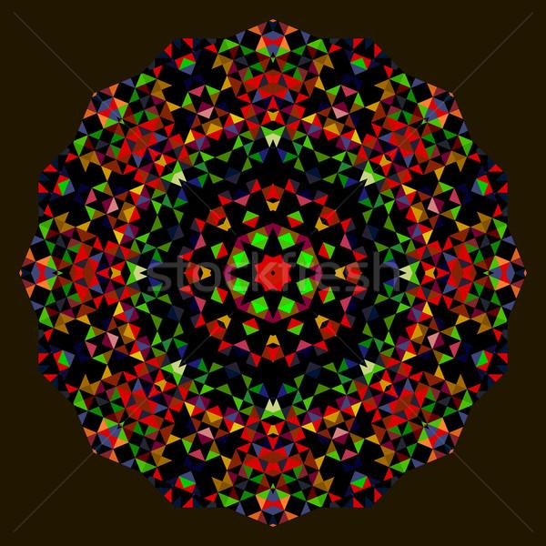 Absztrakt kreatív színes stílus vektor kerék Stock fotó © ESSL