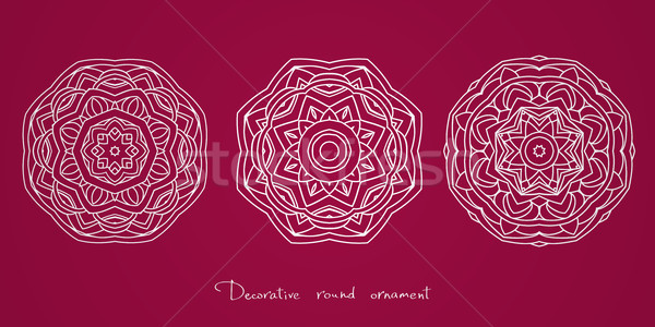 Mandala étnicas decorativo elementos indio Islam Foto stock © ESSL