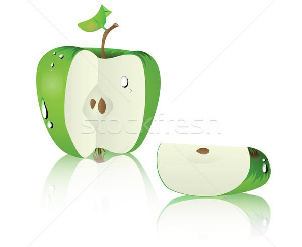 Zöld alma levél gyümölcs egészség desszert Stock fotó © evetodew