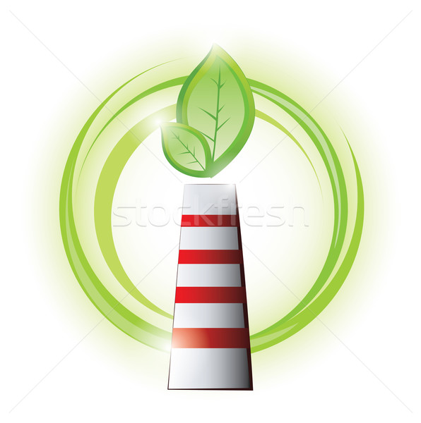 Eco chimney with plant Stock photo © evetodew