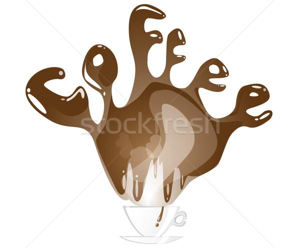 Kávé csobbanás ital csésze csobbanás ízletes Stock fotó © evetodew