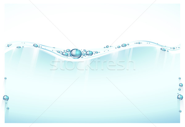 Splashing water surface Stock photo © evetodew