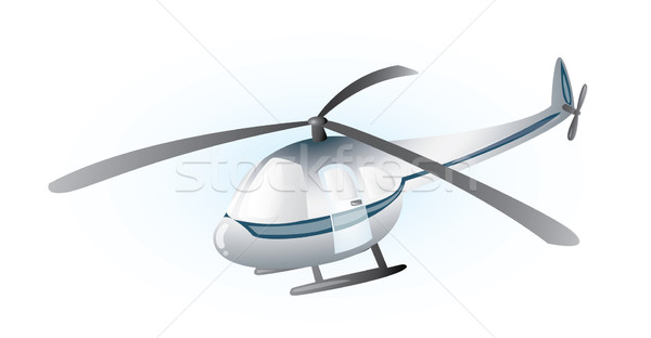 Stock photo: Grey helicopter