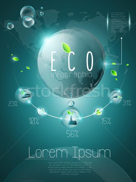 Ekologiczny projektu elementy warstwy przezroczystość Zdjęcia stock © evetodew