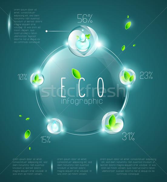 экологический информации графического дизайна Элементы свет Сток-фото © evetodew