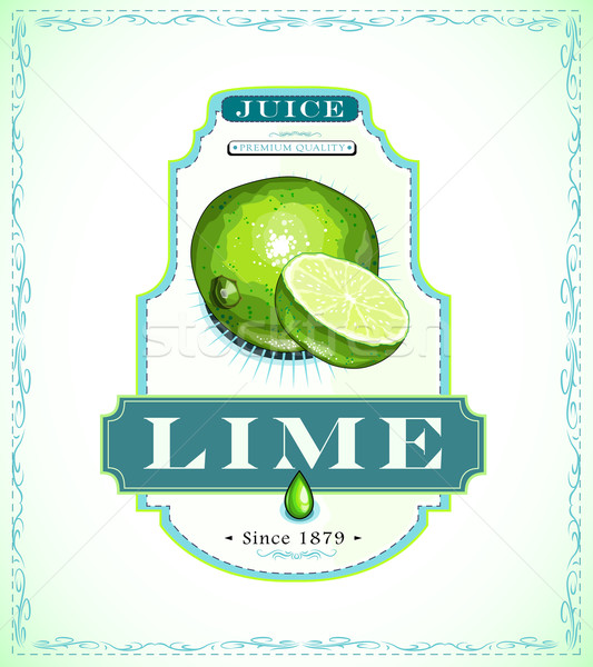 Lime product label Stock photo © evetodew