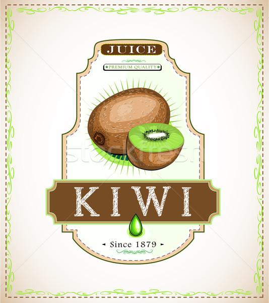 Kiwi product label Stock photo © evetodew