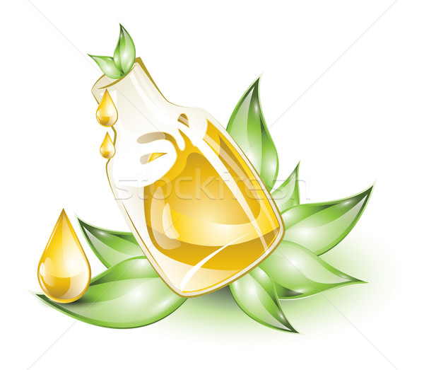 Botella hojas verdes naturaleza fondo Splash Foto stock © evetodew