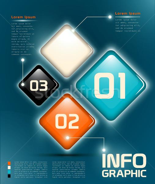 Infografika ui elemek rétegek eps 10 Stock fotó © evetodew