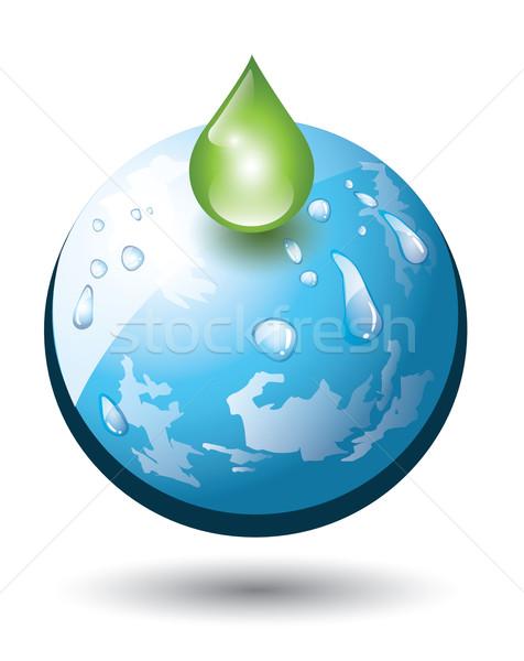 Föld cseppecske izolált víz természet zöld Stock fotó © evetodew