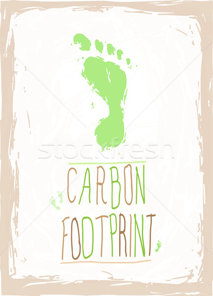 Carbon footprint abstract natuur teken groene Stockfoto © evetodew