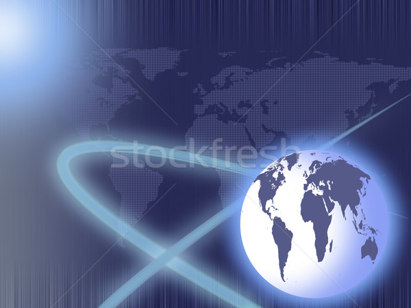 abstract background of the planet and maps Stock photo © evgenyatamanenko