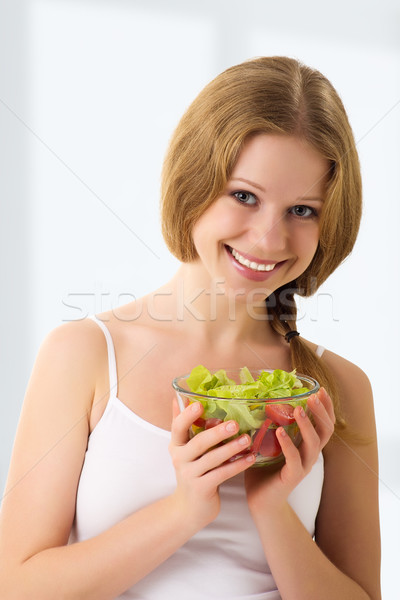 Bella vegetali vegetariano insalata ritratto Foto d'archivio © evgenyatamanenko