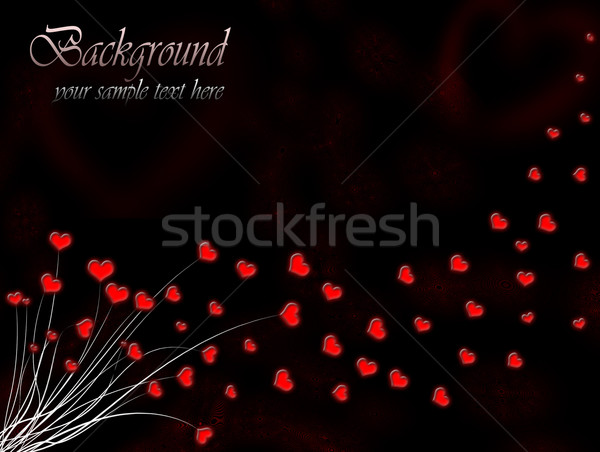 Valentine`s day card with red hearts Stock photo © evgenyatamanenko
