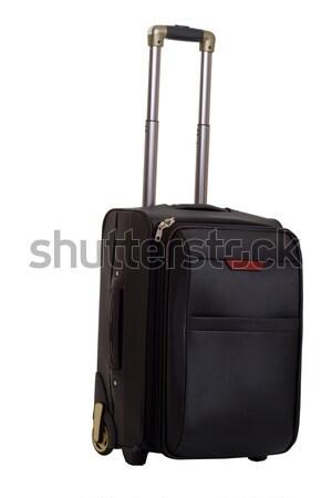 Valigia gestire bianco sfondo bag nero Foto d'archivio © evgenyatamanenko