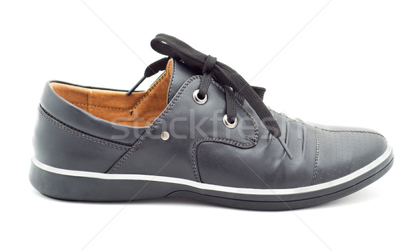 a new black man's shoes Stock photo © evgenyatamanenko