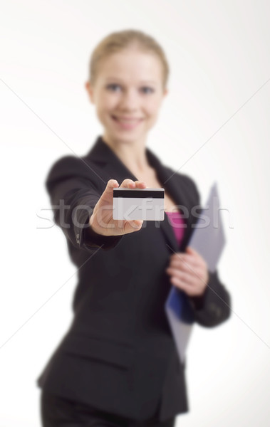 business woman with a credit card Stock photo © evgenyatamanenko