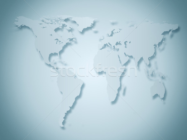 business world map in gray and blue tones Stock photo © evgenyatamanenko