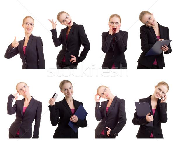 Collage giovani di successo donna d'affari business isolato Foto d'archivio © evgenyatamanenko