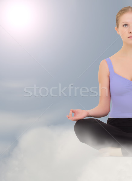 Meditation in the clouds Stock photo © evgenyatamanenko