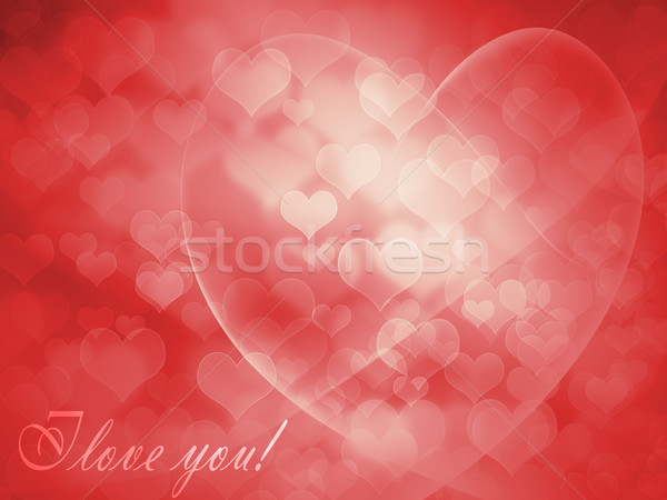 Greeting Card for Valentine's Day Stock photo © evgenyatamanenko