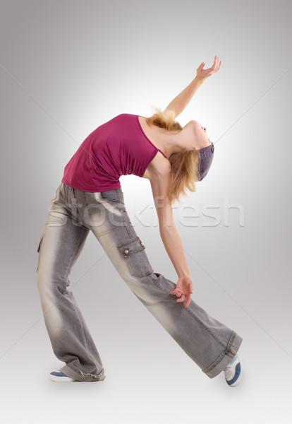 Ballerino dancing jazz moderno dance Foto d'archivio © evgenyatamanenko