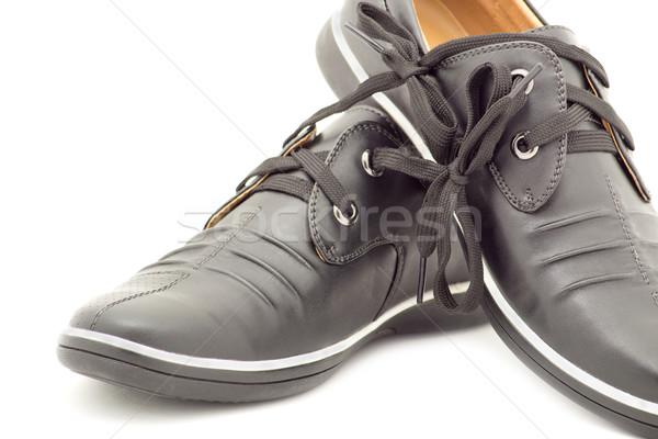 Elegáns pár cipők férfiak fehér sport Stock fotó © evgenyatamanenko