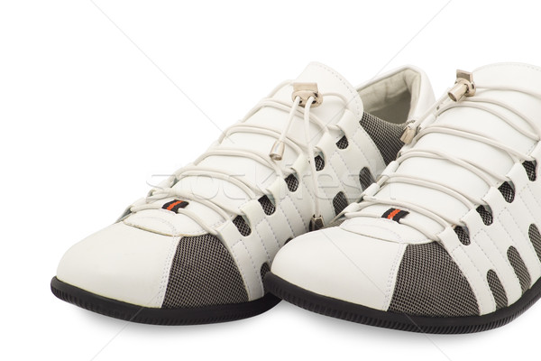 stylish men's sneakers new white Stock photo © evgenyatamanenko