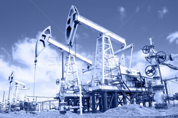 насос клапан синий промышленности нефть промышленных Сток-фото © EvgenyBashta