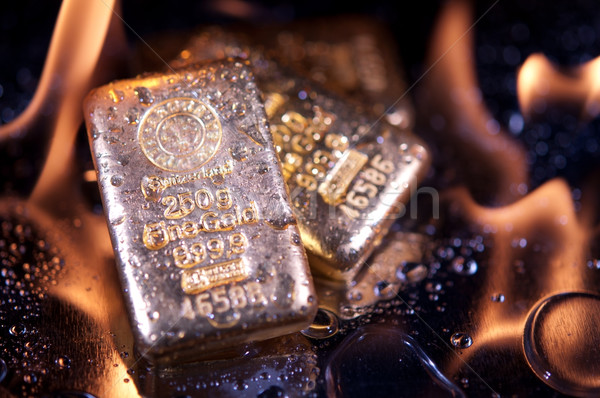 goldbars  and  flame Stock photo © EvgenyBashta