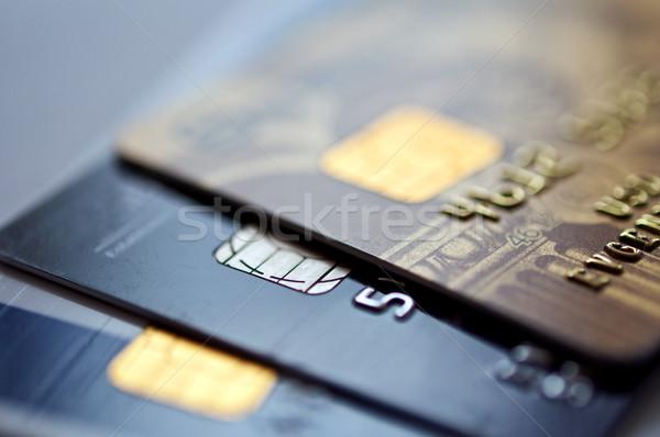 クレジットカード 青 選択フォーカス クローズアップ プラスチック ストックフォト © EvgenyBashta
