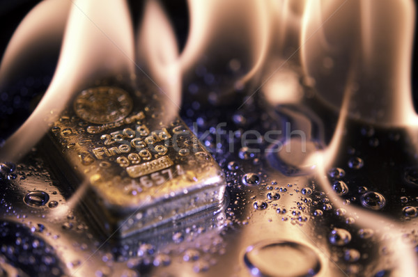 goldbars  and  flame Stock photo © EvgenyBashta