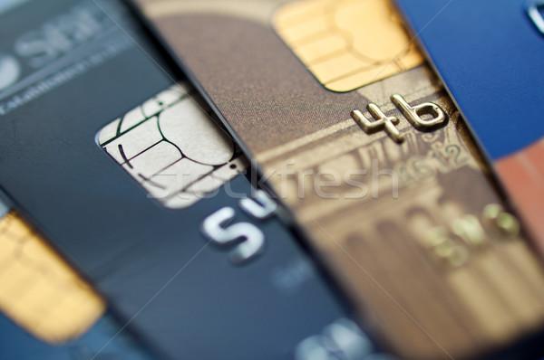 кредитных карт кредитные карты избирательный подход пластиковых банковской Сток-фото © EvgenyBashta