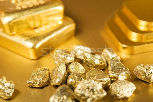 золото желтый роскошь макроса баров символ Сток-фото © EvgenyBashta