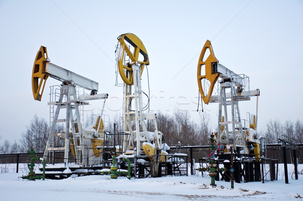 stopped pumpjacks Stock photo © EvgenyBashta