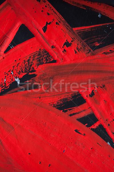 Piros fekete gyönyörű absztrakt festmény fényes Stock fotó © EvgenyBashta