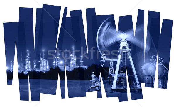 Нефтяная промышленность аннотация нефть насос очистительный завод газ Сток-фото © EvgenyBashta