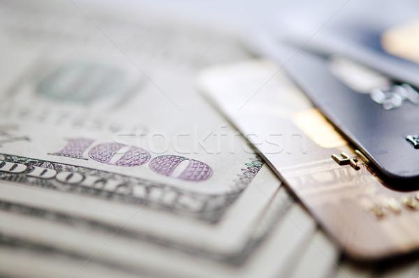 Usd hitelkártya szelektív fókusz közelkép üzlet pénzügy Stock fotó © EvgenyBashta