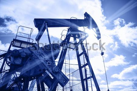 Pump jack abstract composition. Stock photo © EvgenyBashta
